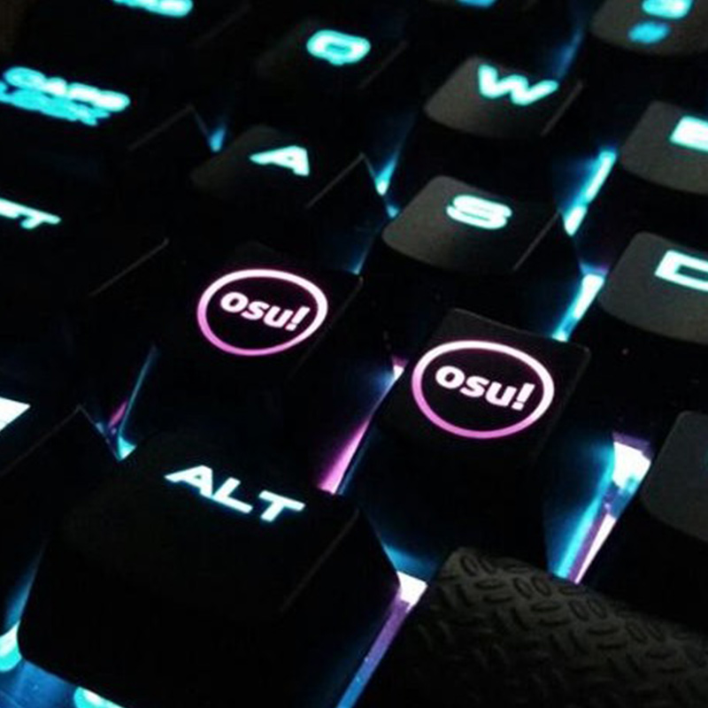 2 pcs/pack Backlight OSU Keycaps for Cherry Keyboard Backlit Mechanical Keyboard Keycap