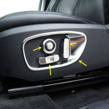 10pcs Seat Adjustment Decorative Cover Trim For Land Rover Discovery Sport 2015
