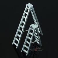 1 10 Model Climber Simulation Parts SCX10 WRAITH AX10012 Scene Decoration Of Aluminum Alloy Cargo Ladder
