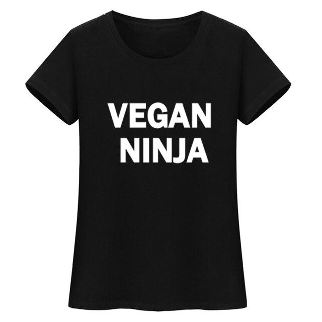 Vegan Письмо печати футболки летние топы HARAJUKU женская одежда 2017 повседневная черная футболка женские короткий рукав О-образным вырезом футболка