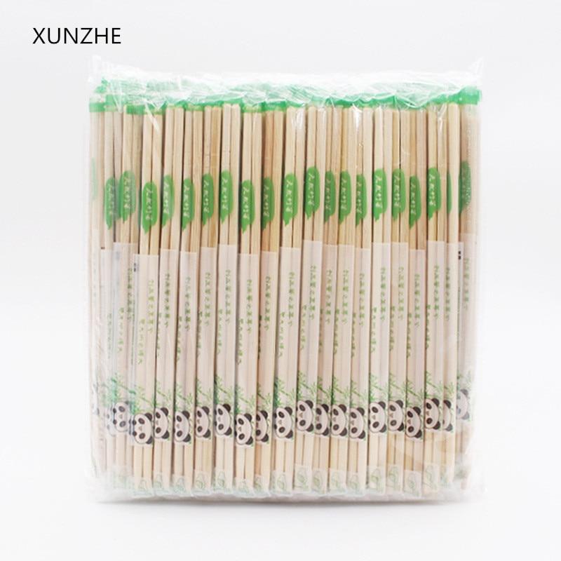 40 Pairs Disposable Bamboo Wooden Chopsticks Hashi Individually Wrapped ho