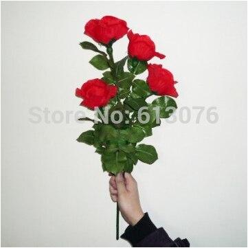 Éclairage rose télécommande, 4 fleurs-tour de magie, fleur magicclose up magique