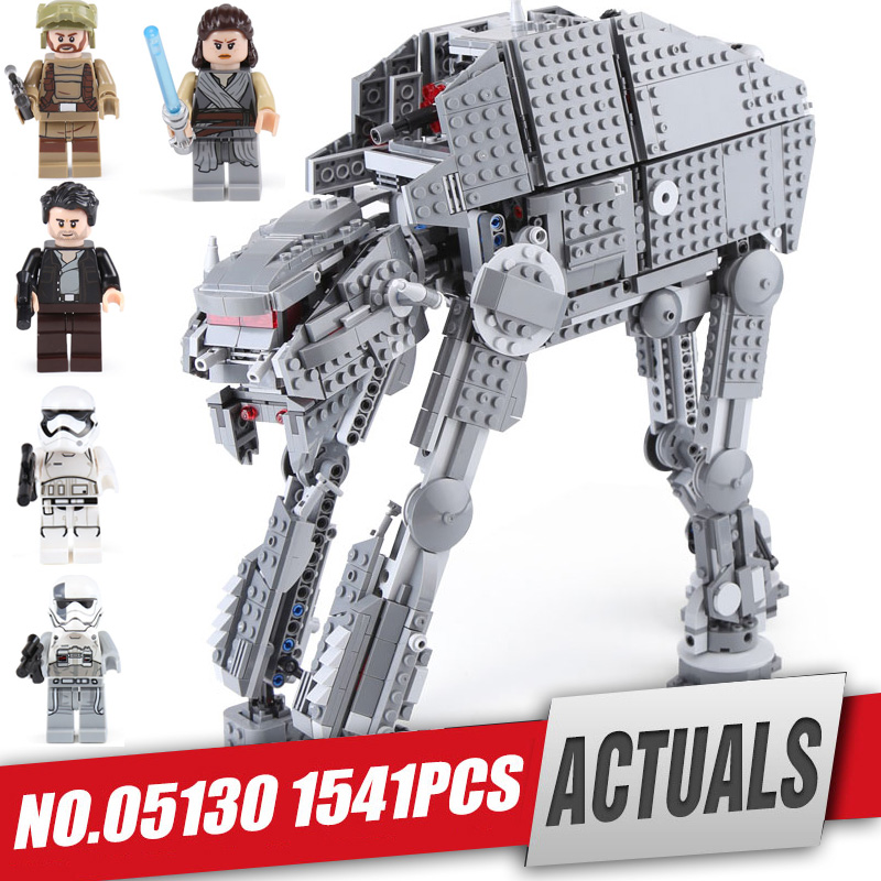 цена Lepin 05130 Star series Wars The First order heavy assault walker Set 75189 Building Blocks Bricks Legoing Toy Christmas gift