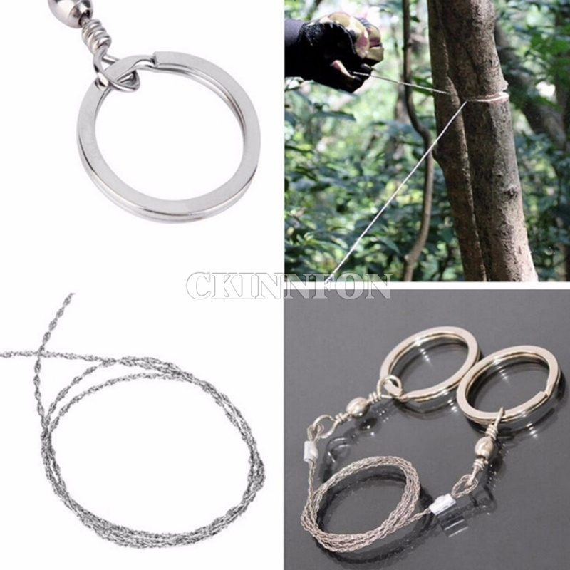 DHL 500PCS Portable Practical Emergency Gear Steel Wire Saw Outdoor Camping Hiking Manual Hand Steel Rope