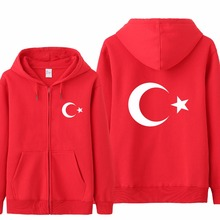 Omnitee Cool Turkey Flag Hoodies Tracksuit Men Casual  Autumn Fleece Jacket Zipper Pullover Turkey Sweatshirt