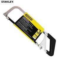 Stanley 1pc adjustable hacksaw frame w/ 10carbon steel blade 255mm rubber grip metal hack saw wood aluminium plastic cutting