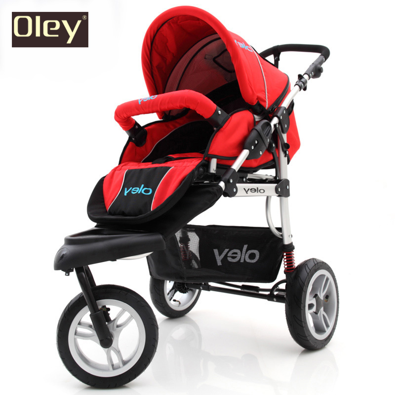 Highview Bidirectional Baby Stroller Pram Pushchair, 3 Wheels Stroller, Suspension, Pneumatic Tires Folding Baby Carriage stroller car seat newborn pram 3 wheels baby stroller 3 in 1 prams pushchair pram stroller travel system free shipping