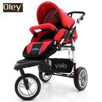 Highview Bidirectional Baby Stroller Pram Pushchair, 3 Wheels Stroller, Suspension, Pneumatic Tires Folding Baby Carriage
