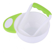 BPA Free Mash and Serve Bowl for Making Baby Food Fresh Steam Prepare Bowl and Food Masher 1 Set