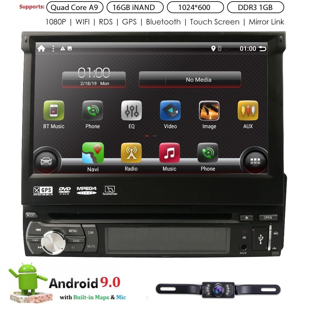 1 din Android 8,1 Автомобильный Универсальный DVD плеер радио gps Bluetooth стерео Зеркало Ссылка мультимедиа DAB + TPMS RDS DVR Бесплатная сзади камера