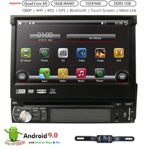 1 din Android 8.1 Universal Car DVD Player GPS Rádio Estéreo Bluetooth Espelho ligação Multimedia RDS DAB   TPMS DVR câmera traseira livre