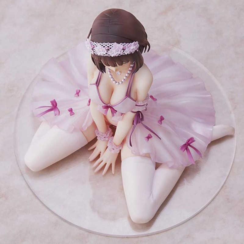 Anime saekano como levantar uma namorada chata megumi kato pvc figura de ação 16cm anime meninas sexy figura collectible modelo brinquedos