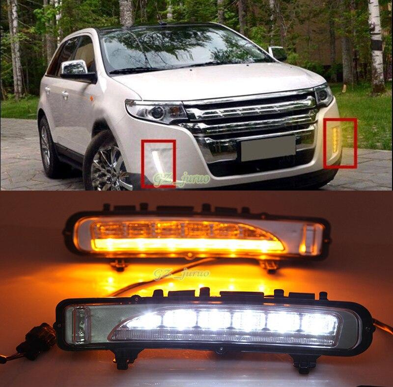 все цены на 1 Pair Exact Fit White/Amber Switchback LED Daytime Running Lights For 2011 2012 2013 2014 Ford Edge