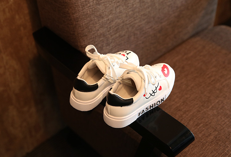 COZULMA Girls Boys Casual Shoes Sneakers 17 Children Sport Shoes Baby Boys Shoes Kids Letters Lace-Up Running Shoes Sneakers 11