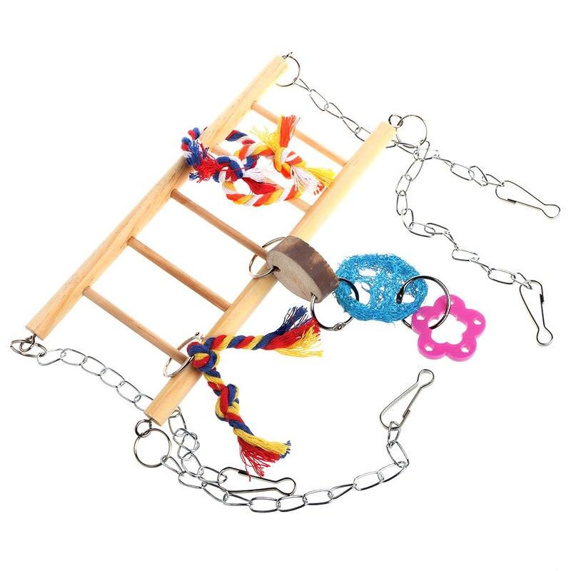 Птицу Игрушечные лошадки попугай волнистый Попугайчик cockatiel клетка хомяка гамак качели подвесные игрушки
