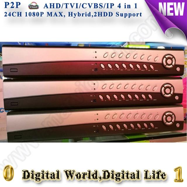 24ch 1080 P ВИДЕОНАБЛЮДЕНИЯ hybrid dvr NVR HVR для ahd CVI tvi cvbs ip-камера ONVIF рекордер построить камеры безопасности систем DVR