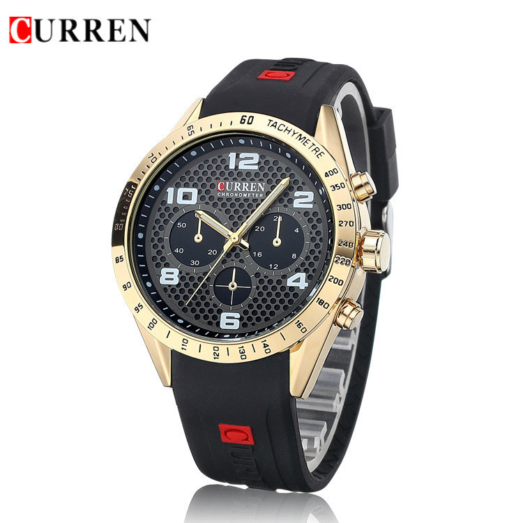 Relogio Masculino Original CURREN Wristwatches Mens Watches Top Brand Luxury Silicone Sports Watches Military Army Waterproof