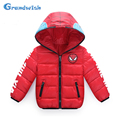 Grandwish Boys Spiderman Jackets Girls Winter Hooded Outwear Kids Cartoon Printed Thick  Jackets Children Coats 4T-12T, SC370