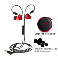 Moxpad X9 Pro Dual Dynamic In Ear Sport Earphones With Mic Headphones Mobile Replacement Cable Noise
