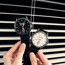 Octbyna модная пара мальчик девочка часы Популярные Повседневное кварцевые Для женщин Для мужчин часы любовника подарок часы любовник наручные часы