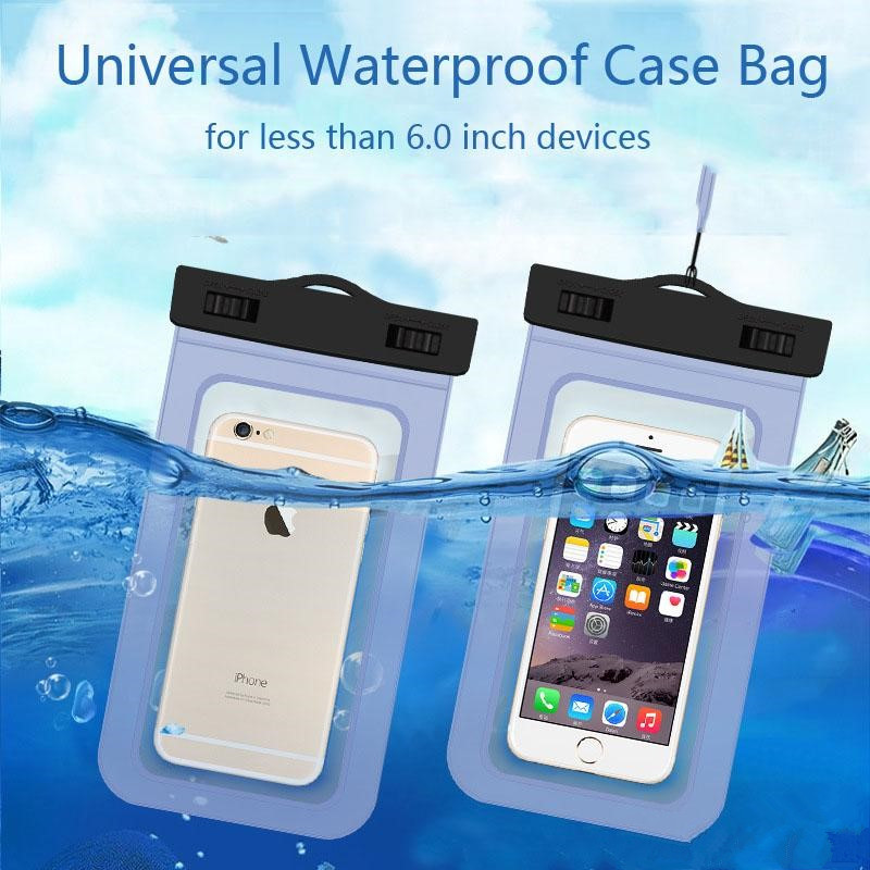 Universal Waterproof Case for iPhone 5s 5 Phone Bags Pouch with Strap for iPhone 6 6S 7 Plus Coque Covers Capa