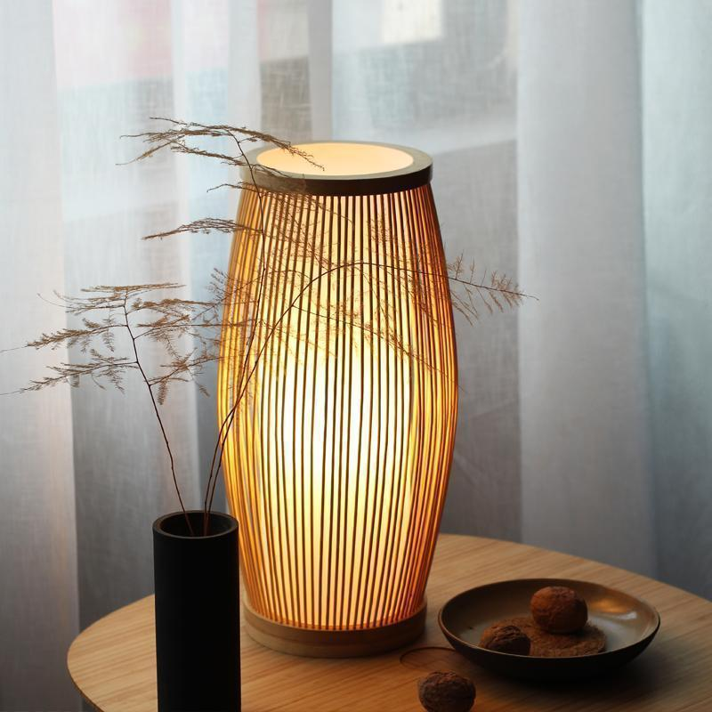Zen Chinese Style Bamboo Sticks Table Lamp Modern Lamp