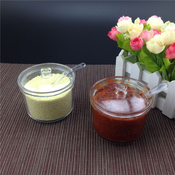 Acrylic Sugar & Creamer Pots condiment seasoning bowl salt shaker bottles cans boxes