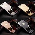 Sliver espelho ultrafino caso o metal de alumínio do telefone móvel para apple iphone 6 s plus 7 7 plus