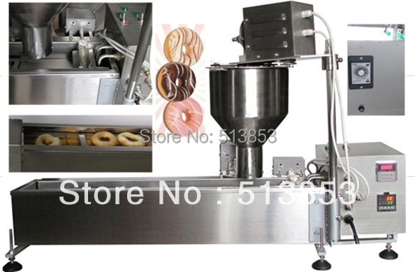 High quality Electric Automatic donut fryer/donut machine( GB-10D) automatic donut machine productions line automatic commercial donut machine donut forming machines