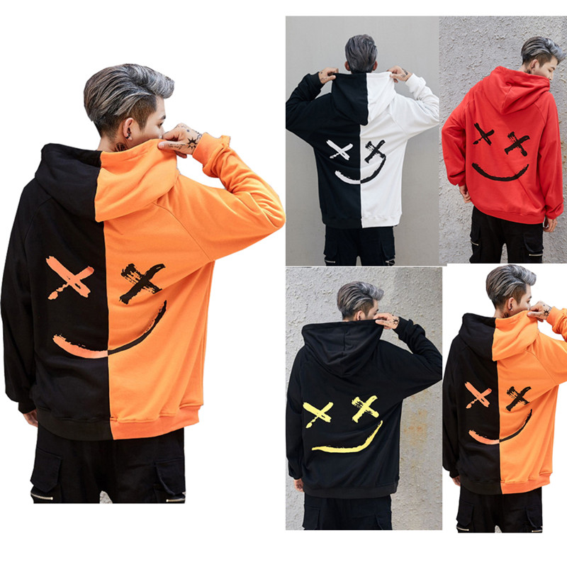 2019 Winter Men Hoodies Sweatshirt Hooded Pullover Outwear Jumper Tops Hip Hop Streetwear Clothing Us Size Plus Size 3XL