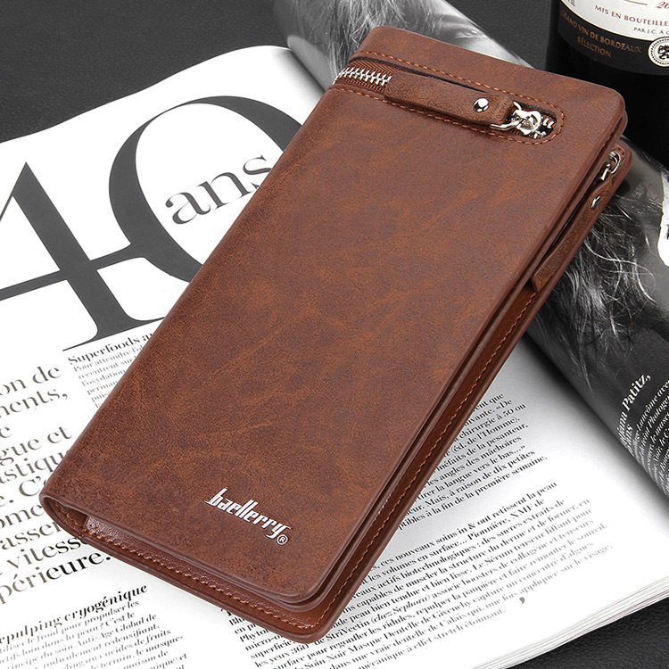 8ae1cf370b98 Baellerry Brand New Men long short Wallet Fashion Black Mens Genuine Leather  Zipper Coin Purse Wallet Baelerry billeteras-in Wallets from Luggage   Bags  on ...