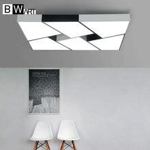 Bwart современные светодиодные светильники потолочные простой стиль smart домой светодиодные лампы большой творческой блеск спальня гостиная лампа