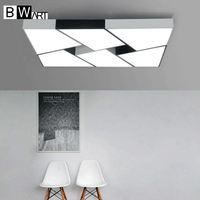 Bwart современные светодиодные светильники потолочные простой стиль smart домой светодиодные лампы большой творческой блеск спальня гостиная