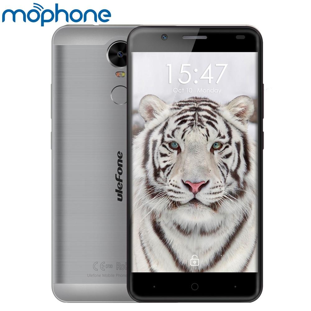 """Цена за Ulefone тигр 4 г смартфон android 6.0 mtk6737 quad core 5.5 """"1280*720 2 ГБ + 16 ГБ две камеры mart жест телефон"""