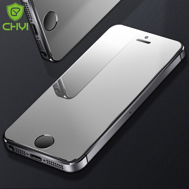 2PCS CHYI matte For iphone 6S 7 8 plus screen protector tempered glass 9h iphone Xs max Xr frosted protective glass For 5S 5C 5E