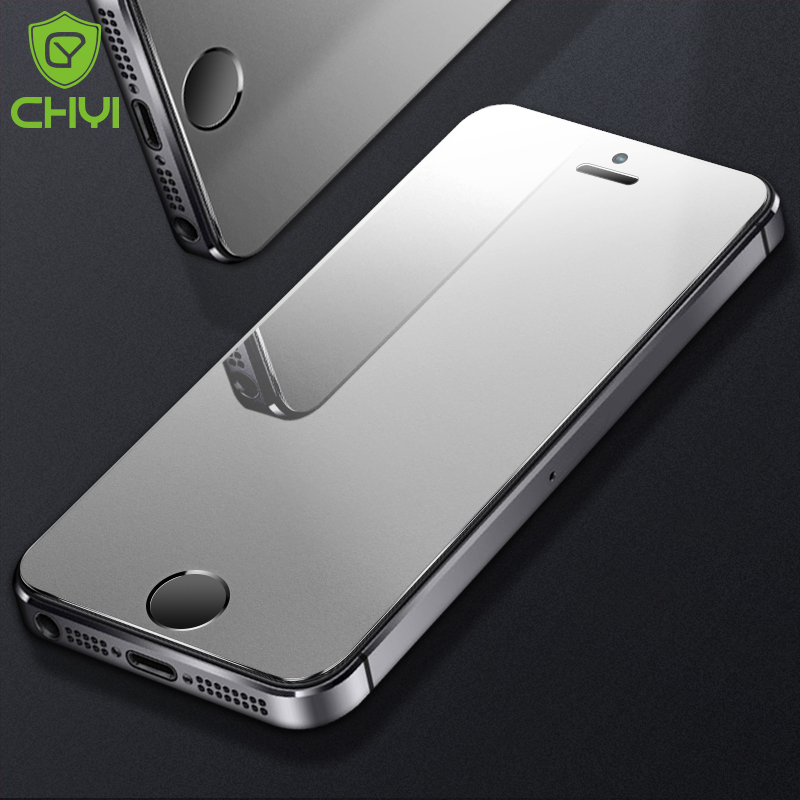 CHYI matte For iphone SE tempered glass 9h hardness Iphone 6 7 8 explosion proof protective
