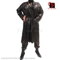 Сексуальная Латекс Черный Ремни халат резиновая халат smugger пальто пижамы свингер Kimono Top пижамы платье XXXL Большие размеры dy 004