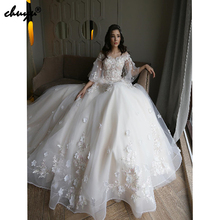 2019 Muslim Wedding Dresses Sweetheart Ball Gown