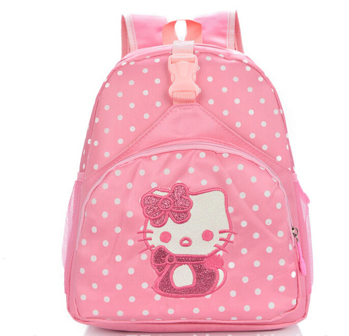 High quality children small school bags child girl backpack cartoon  hellokitty infant school bags for kindergarten kids-in School Bags from  Luggage   Bags ... 96c6d6874cd71