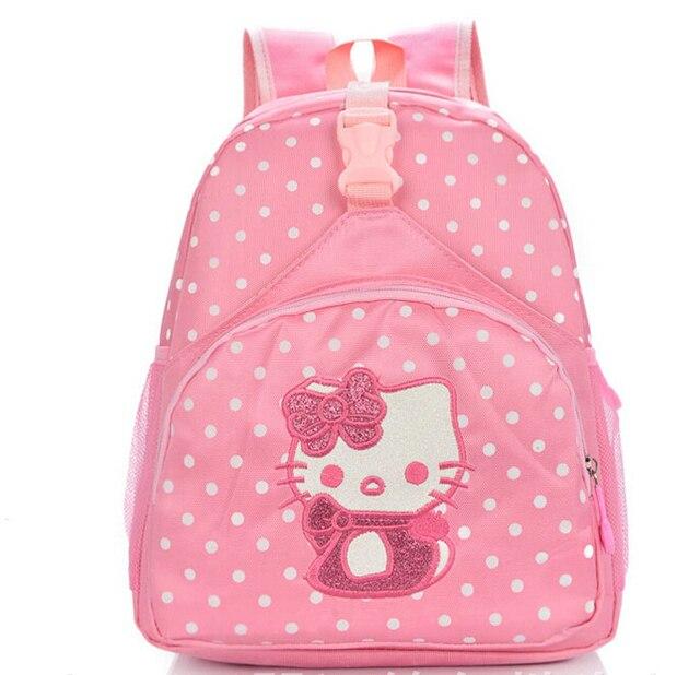 High quality children small school bags child girl backpack cartoon  hellokitty infant school bags for kindergarten b69546b4edbe6