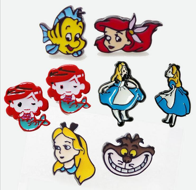 2018 Sale Animal Trendy Oorbellen Aros Earing Animation Mermaid Princess Flounder Fashion Alloy Korea New Earrings Women