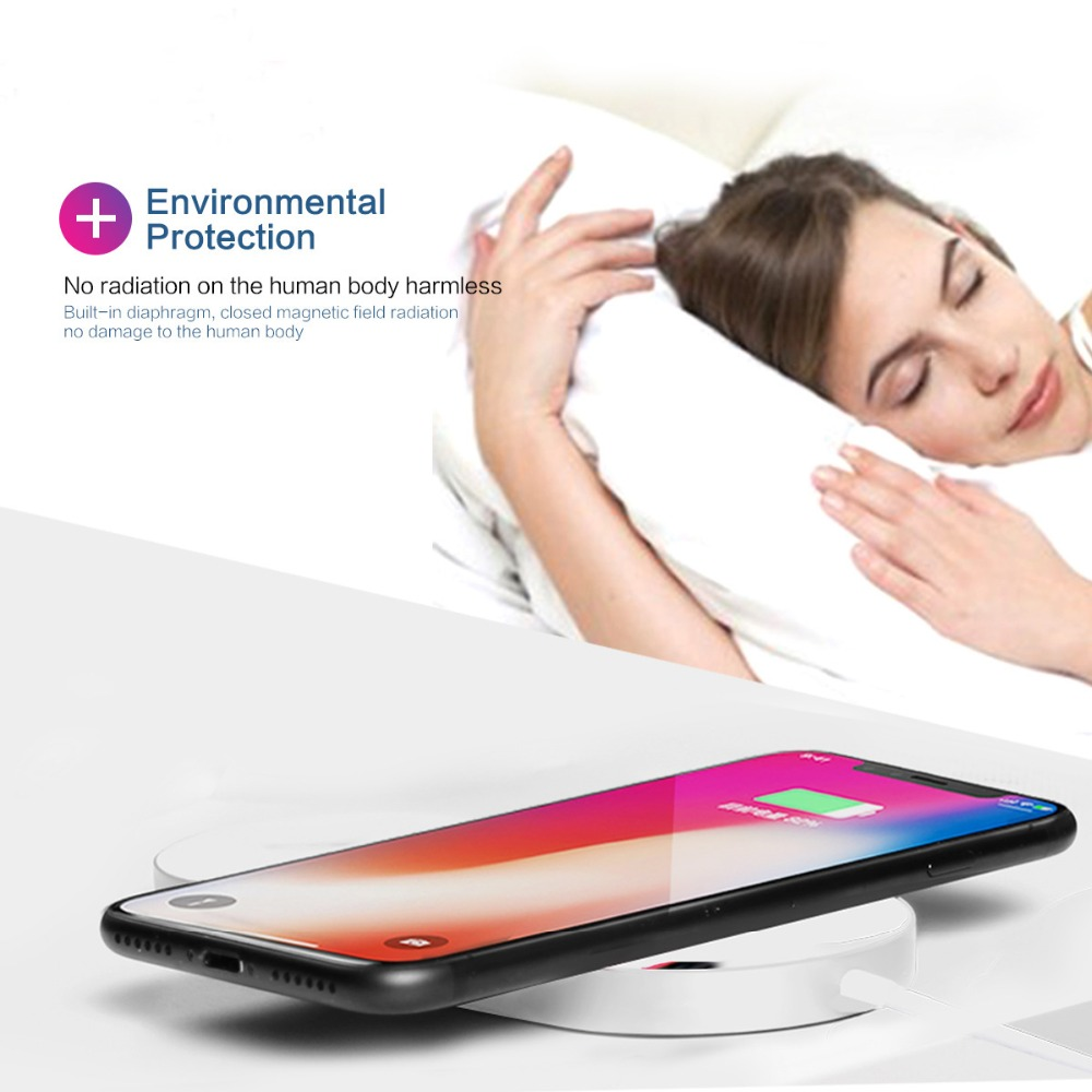 QI Quick Wireless Charger pad for apple watch 1/2/3 charger 7.5W iphone 8 plus x xs max for samsung s9 s8 xiaomi mix 2s