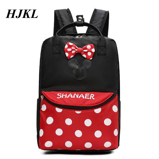 Hjkl Many Size Mickey Minnie Children Cartoon Backpack For1-8 Years Old Boys And Girls Lovely Schoolbag High Capacity Gift