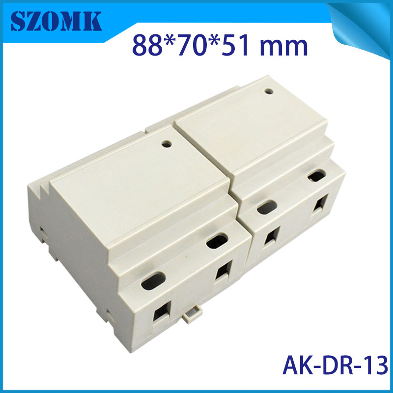 wall mount plastic enclosure control box (1 pcs) 88*70*51mm szomk project box electronic case plastic din rail enclossure 1 piece free shipping plastic enclosure for wall mount amplifier case waterproof plastic junction box 110 65 28mm