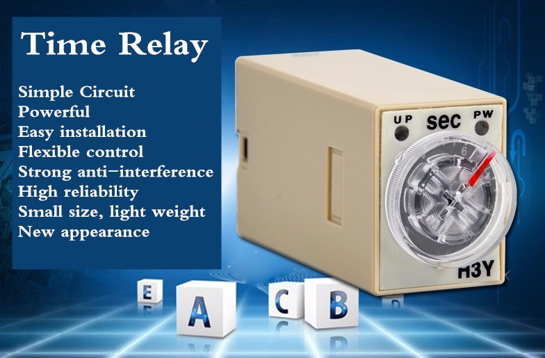 high quality  1 set h3y 2 dc 12v delay timer time relay 0