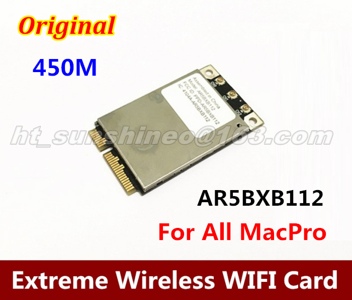 Original For  Atheros Airport Extreme Wireless Mini PCIE WIFI Card AR5BXB112 AR9380  450M high quality airport extreme 2 4g 5g dual frequency bcm94322mc wireless macpro pci e 1x wifi card for all mac pro