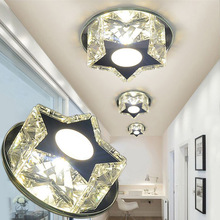 LAIMAIK 90-260V 5W/3W Crystal LED Ceiling Light star Aisle Led Modern Lights for Living Room