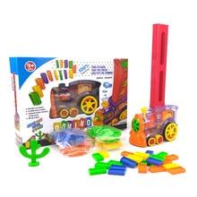 80 шт Автоматическая игрушка для укладки кирпича домино вагон домино набор колокольчик набор красочные пластиковые блоки Домино подарок на день рождения