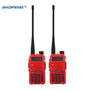 Image 3 - BaoFeng اسلكية تخاطب UV 5R 2 قطعة/الوحدة اتجاهين راديو baofeng uv5r 128CH 5 واط VHF UHF 136 174 ميجا هرتز و 400 520 ميجا هرتز