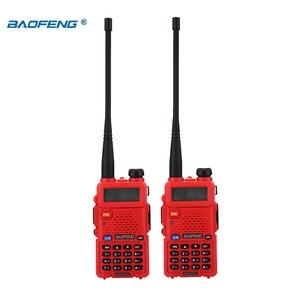 Image 3 - BaoFeng walkie talkie UV 5R 2 teile/los two way radio baofeng uv5r 128CH 5W VHF UHF 136 174Mhz & 400 520Mhz